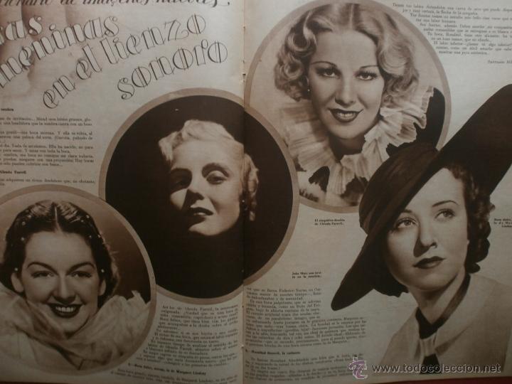 Cine: CINEGRAMAS Nº21.1935.ANN DVORAK.JEAN HARLOW,CARMINE GALLONE,FRITZ LANG,BARBARA STANWYCK,CLARK GABLE. - Foto 14 - 40964973