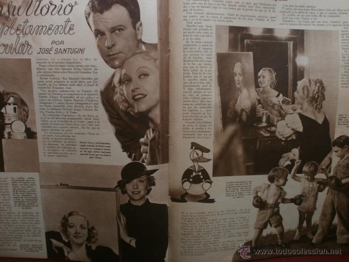 Cine: CINEGRAMAS Nº21.1935.ANN DVORAK.JEAN HARLOW,CARMINE GALLONE,FRITZ LANG,BARBARA STANWYCK,CLARK GABLE. - Foto 15 - 40964973