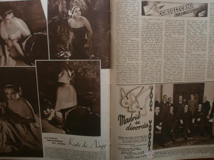 Cine: CINEGRAMAS Nº21.1935.ANN DVORAK.JEAN HARLOW,CARMINE GALLONE,FRITZ LANG,BARBARA STANWYCK,CLARK GABLE. - Foto 18 - 40964973