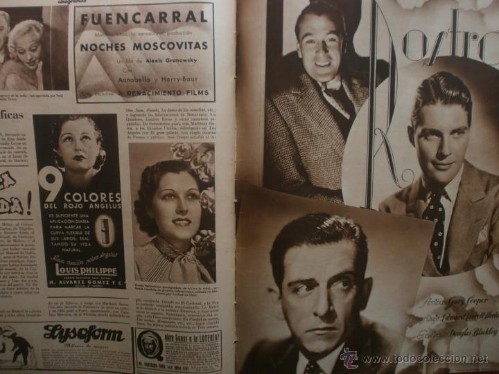 Cine: CINEGRAMAS Nº21.1935.ANN DVORAK.JEAN HARLOW,CARMINE GALLONE,FRITZ LANG,BARBARA STANWYCK,CLARK GABLE. - Foto 19 - 40964973
