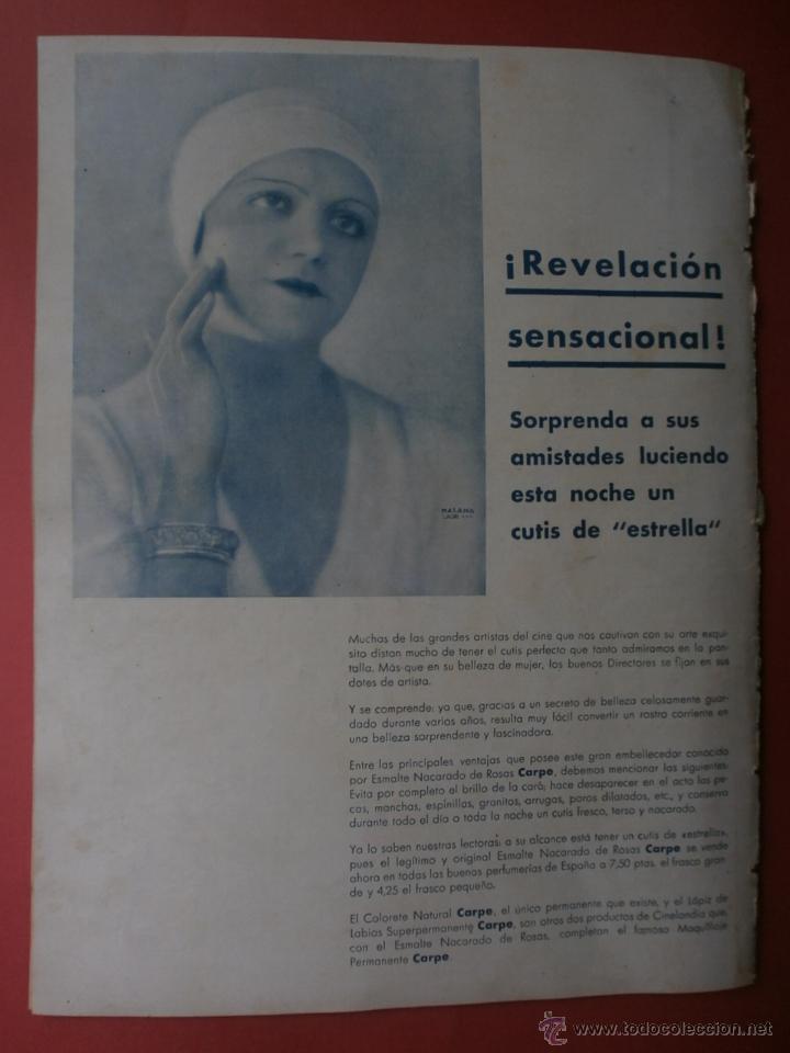 Cine: CINEGRAMAS Nº21.1935.ANN DVORAK.JEAN HARLOW,CARMINE GALLONE,FRITZ LANG,BARBARA STANWYCK,CLARK GABLE. - Foto 20 - 40964973