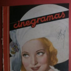 Cinema - CINEGRAMAS Nº20.1935.PAT PATERSON.CECIL B.DE MILLE,GRETA GARBO,ANNA MAY WONG,WILLY FORST,K.DE NAGY. - 40965220