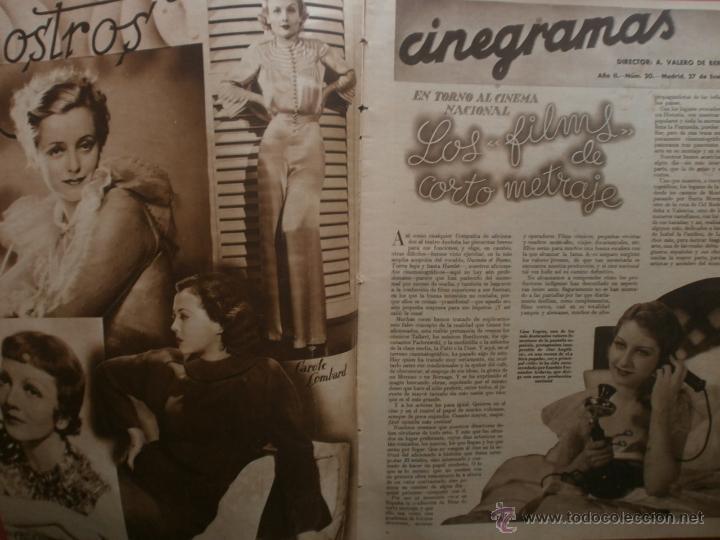 Cine: CINEGRAMAS Nº20.1935.PAT PATERSON.CECIL B.DE MILLE,GRETA GARBO,ANNA MAY WONG,WILLY FORST,K.DE NAGY. - Foto 2 - 40965220