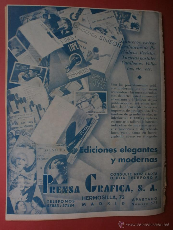 Cine: CINEGRAMAS Nº20.1935.PAT PATERSON.CECIL B.DE MILLE,GRETA GARBO,ANNA MAY WONG,WILLY FORST,K.DE NAGY. - Foto 20 - 40965220