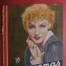 Cine: CINEGRAMAS Nº19.1935.BRIGITTE HELM.JEAN MURAT,SYLVIA SIDNEY,MARLENE DIETRICH,GRETA GARBO.. Lote 40965433