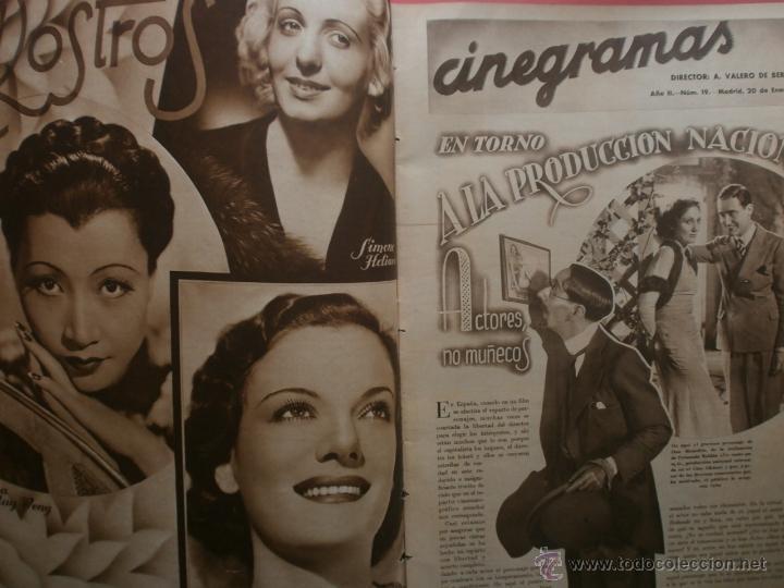 Cine: CINEGRAMAS Nº19.1935.BRIGITTE HELM.JEAN MURAT,SYLVIA SIDNEY,MARLENE DIETRICH,GRETA GARBO. - Foto 2 - 40965433