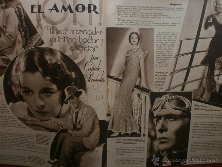 Cine: CINEGRAMAS Nº19.1935.BRIGITTE HELM.JEAN MURAT,SYLVIA SIDNEY,MARLENE DIETRICH,GRETA GARBO. - Foto 5 - 40965433