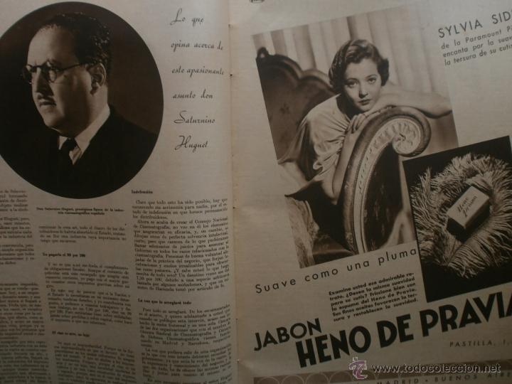 Cine: CINEGRAMAS Nº19.1935.BRIGITTE HELM.JEAN MURAT,SYLVIA SIDNEY,MARLENE DIETRICH,GRETA GARBO. - Foto 8 - 40965433