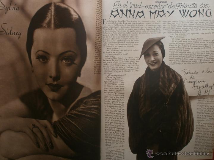 Cine: CINEGRAMAS Nº19.1935.BRIGITTE HELM.JEAN MURAT,SYLVIA SIDNEY,MARLENE DIETRICH,GRETA GARBO. - Foto 11 - 40965433