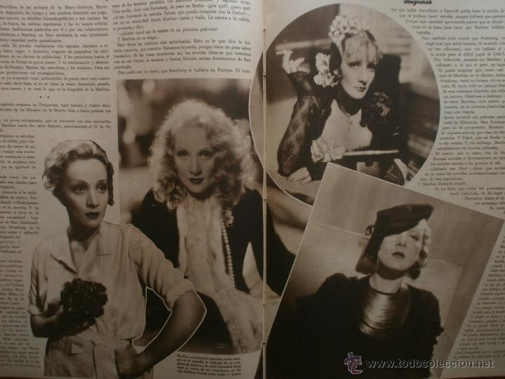 Cine: CINEGRAMAS Nº19.1935.BRIGITTE HELM.JEAN MURAT,SYLVIA SIDNEY,MARLENE DIETRICH,GRETA GARBO. - Foto 14 - 40965433