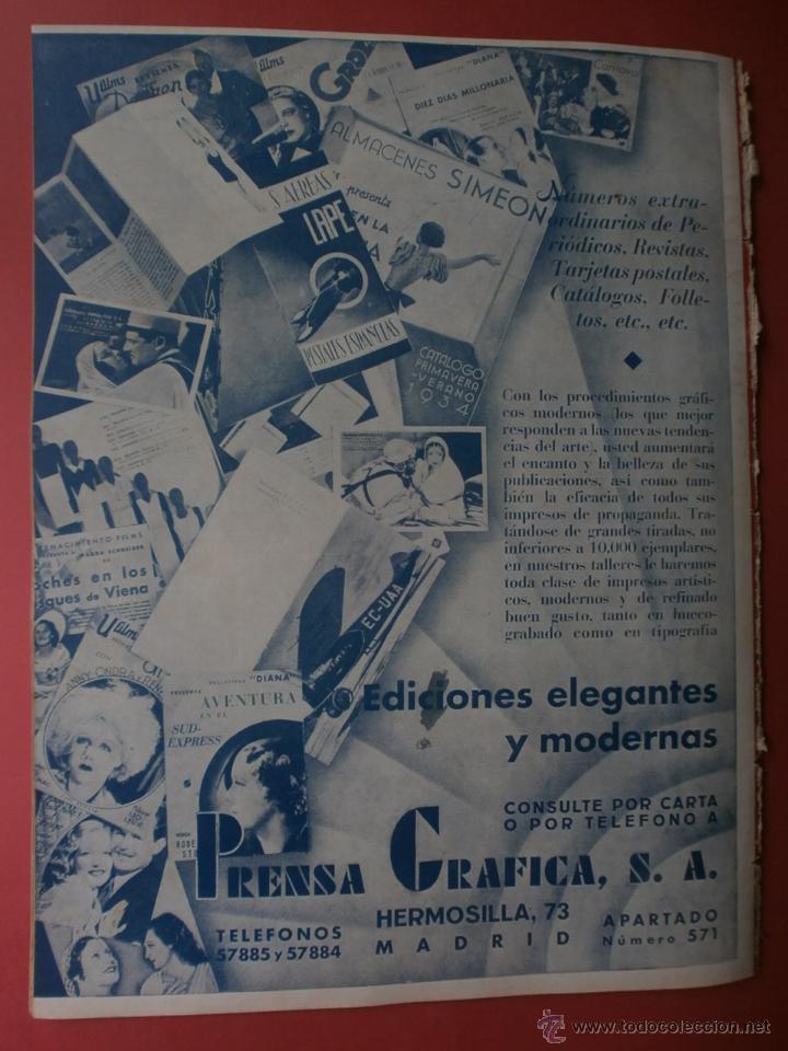 Cine: CINEGRAMAS Nº19.1935.BRIGITTE HELM.JEAN MURAT,SYLVIA SIDNEY,MARLENE DIETRICH,GRETA GARBO. - Foto 21 - 40965433