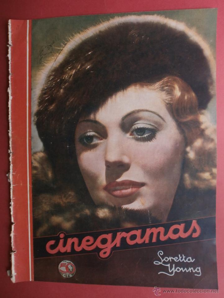 CINEGRAMAS Nº17.1935.LORETTA YOUNG.IRENE LOPEZ HEREDIA,ROUBEN MAMOULIAN,CLARK GABLE,GRETA GARBO. (Cine - Revistas - Cinegramas)
