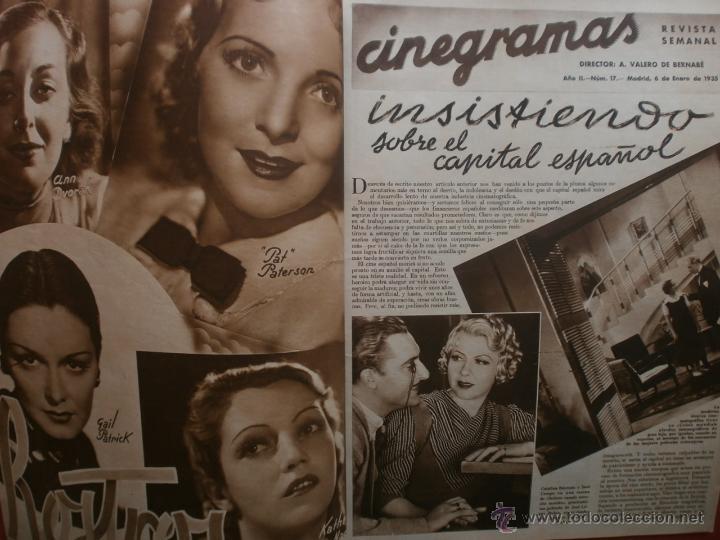Cine: CINEGRAMAS Nº17.1935.LORETTA YOUNG.IRENE LOPEZ HEREDIA,ROUBEN MAMOULIAN,CLARK GABLE,GRETA GARBO. - Foto 2 - 40965940