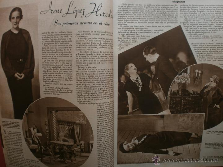 Cine: CINEGRAMAS Nº17.1935.LORETTA YOUNG.IRENE LOPEZ HEREDIA,ROUBEN MAMOULIAN,CLARK GABLE,GRETA GARBO. - Foto 4 - 40965940
