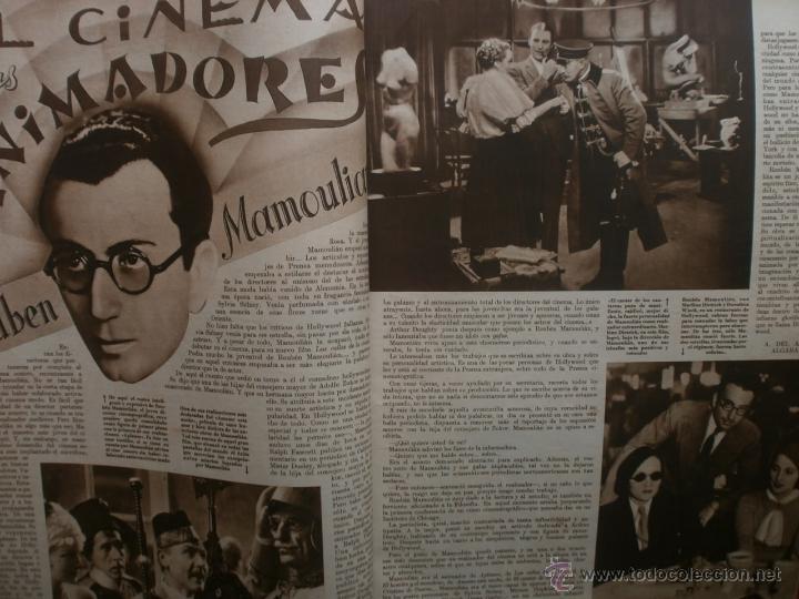 Cine: CINEGRAMAS Nº17.1935.LORETTA YOUNG.IRENE LOPEZ HEREDIA,ROUBEN MAMOULIAN,CLARK GABLE,GRETA GARBO. - Foto 6 - 40965940