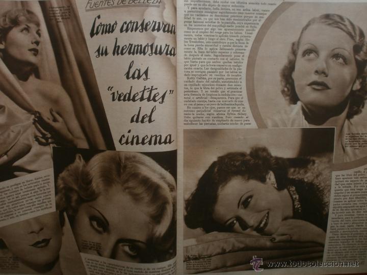 Cine: CINEGRAMAS Nº17.1935.LORETTA YOUNG.IRENE LOPEZ HEREDIA,ROUBEN MAMOULIAN,CLARK GABLE,GRETA GARBO. - Foto 8 - 40965940