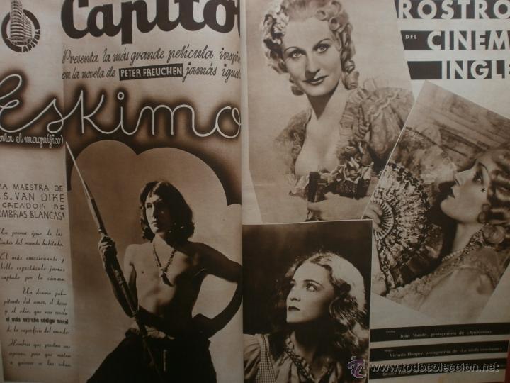 Cine: CINEGRAMAS Nº17.1935.LORETTA YOUNG.IRENE LOPEZ HEREDIA,ROUBEN MAMOULIAN,CLARK GABLE,GRETA GARBO. - Foto 9 - 40965940