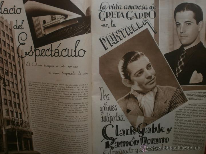 Cine: CINEGRAMAS Nº17.1935.LORETTA YOUNG.IRENE LOPEZ HEREDIA,ROUBEN MAMOULIAN,CLARK GABLE,GRETA GARBO. - Foto 11 - 40965940
