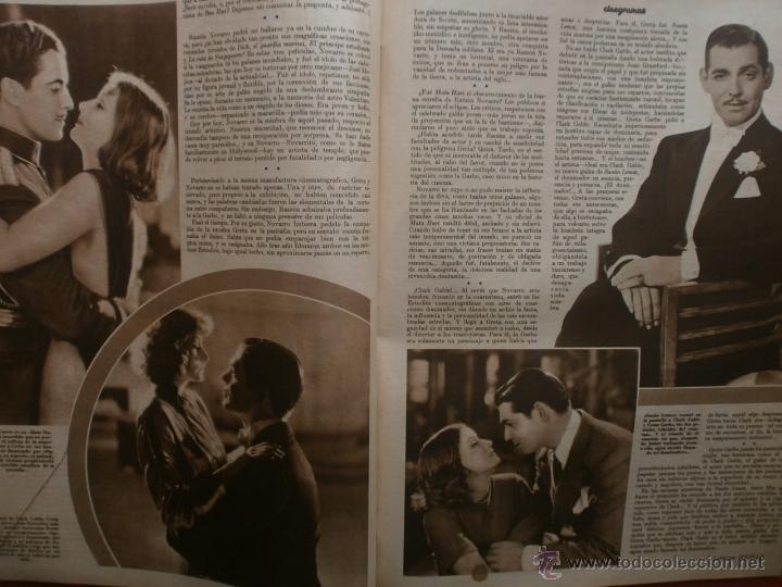 Cine: CINEGRAMAS Nº17.1935.LORETTA YOUNG.IRENE LOPEZ HEREDIA,ROUBEN MAMOULIAN,CLARK GABLE,GRETA GARBO. - Foto 12 - 40965940