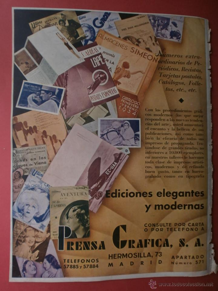 Cine: CINEGRAMAS Nº17.1935.LORETTA YOUNG.IRENE LOPEZ HEREDIA,ROUBEN MAMOULIAN,CLARK GABLE,GRETA GARBO. - Foto 17 - 40965940