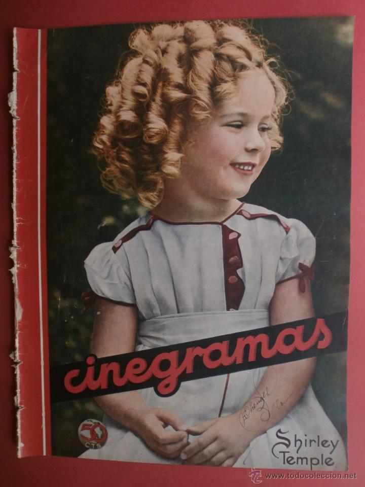 CINEGRAMAS Nº16.1934.SHIRLEY TEMPLE.LUPE VELEZ,LAS MARIONETAS,PAPA NOEL-HOLLYWOOD,CLUDETTE COLBERT. (Cine - Revistas - Cinegramas)