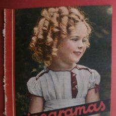 Cine: CINEGRAMAS Nº16.1934.SHIRLEY TEMPLE.LUPE VELEZ,LAS MARIONETAS,PAPA NOEL-HOLLYWOOD,CLUDETTE COLBERT.. Lote 40966142