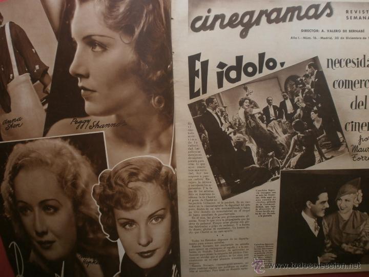Cine: CINEGRAMAS Nº16.1934.SHIRLEY TEMPLE.LUPE VELEZ,LAS MARIONETAS,PAPA NOEL-HOLLYWOOD,CLUDETTE COLBERT. - Foto 2 - 40966142