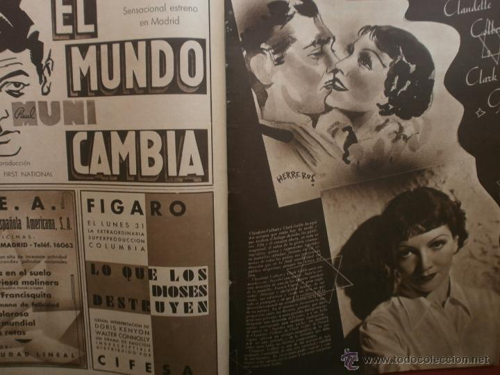 Cine: CINEGRAMAS Nº16.1934.SHIRLEY TEMPLE.LUPE VELEZ,LAS MARIONETAS,PAPA NOEL-HOLLYWOOD,CLUDETTE COLBERT. - Foto 9 - 40966142
