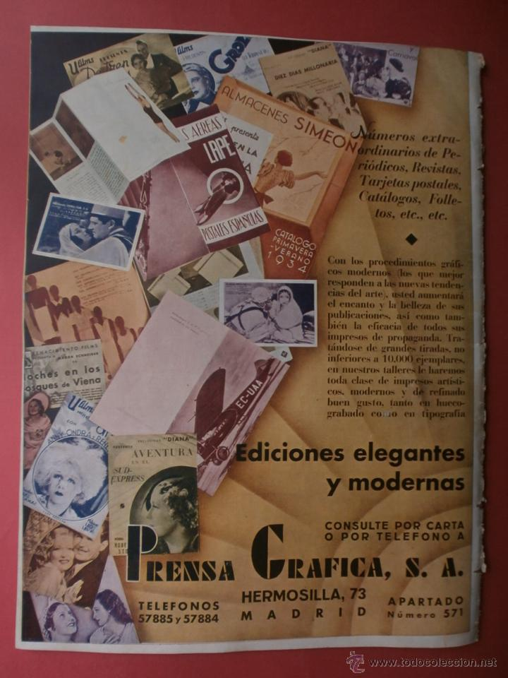 Cine: CINEGRAMAS Nº16.1934.SHIRLEY TEMPLE.LUPE VELEZ,LAS MARIONETAS,PAPA NOEL-HOLLYWOOD,CLUDETTE COLBERT. - Foto 14 - 40966142