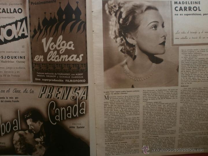 Cine: CINEGRAMAS Nº15.1934.CONCHITA MONTENEGRO.GRETA GARBO,MARLENE DIETRICH,GARY COOPER,GRACE MOORE. - Foto 7 - 40966349