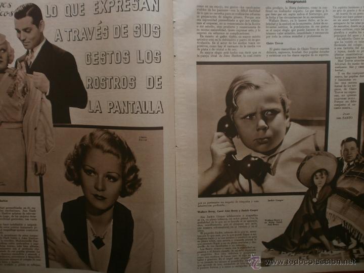 Cine: CINEGRAMAS Nº15.1934.CONCHITA MONTENEGRO.GRETA GARBO,MARLENE DIETRICH,GARY COOPER,GRACE MOORE. - Foto 8 - 40966349