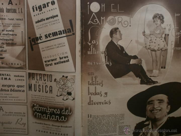 Cine: CINEGRAMAS Nº15.1934.CONCHITA MONTENEGRO.GRETA GARBO,MARLENE DIETRICH,GARY COOPER,GRACE MOORE. - Foto 10 - 40966349