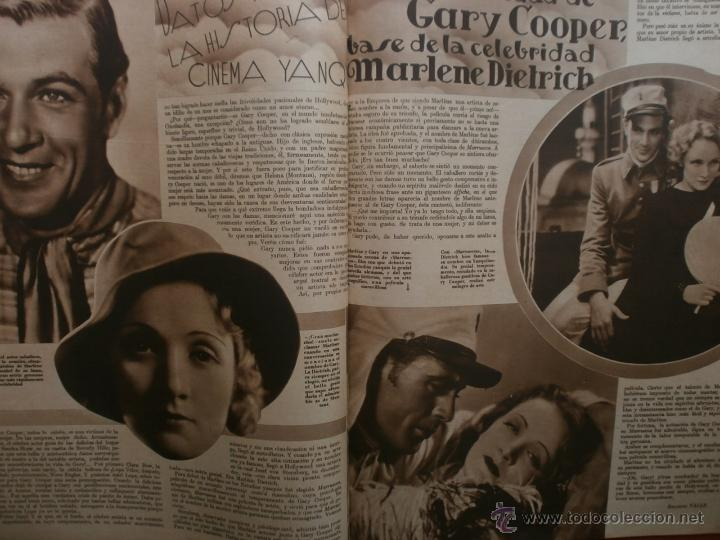 Cine: CINEGRAMAS Nº15.1934.CONCHITA MONTENEGRO.GRETA GARBO,MARLENE DIETRICH,GARY COOPER,GRACE MOORE. - Foto 12 - 40966349