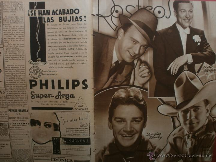 Cine: CINEGRAMAS Nº15.1934.CONCHITA MONTENEGRO.GRETA GARBO,MARLENE DIETRICH,GARY COOPER,GRACE MOORE. - Foto 14 - 40966349