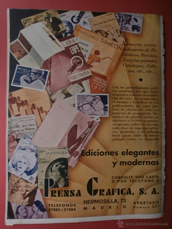 Cine: CINEGRAMAS Nº15.1934.CONCHITA MONTENEGRO.GRETA GARBO,MARLENE DIETRICH,GARY COOPER,GRACE MOORE. - Foto 15 - 40966349