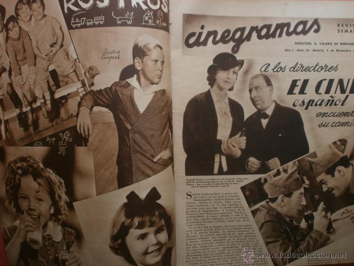 Cine: CINEGRAMAS Nº12.1934.GERTRUDE MICHAEL.IRENE LOPEZ HEREDIA,JAMES CAGNEY,KAY FRANCIS,CATALINA BARCENA. - Foto 2 - 40968536