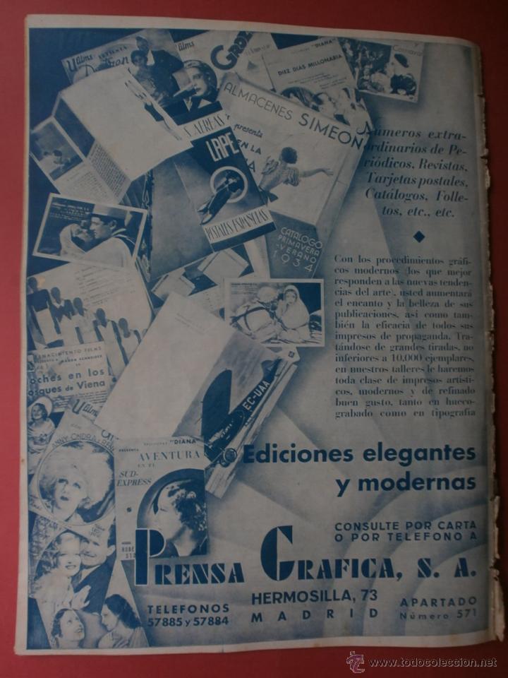 Cine: CINEGRAMAS Nº12.1934.GERTRUDE MICHAEL.IRENE LOPEZ HEREDIA,JAMES CAGNEY,KAY FRANCIS,CATALINA BARCENA. - Foto 16 - 40968536
