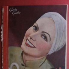 Cine: CINEGRAMAS Nº25.1935.GRETA GARBO.FLORIAN REY,IMPERIO ARGENTINA,ARTURITO GIRELLI,KITTY CARLISTE.. Lote 40969653
