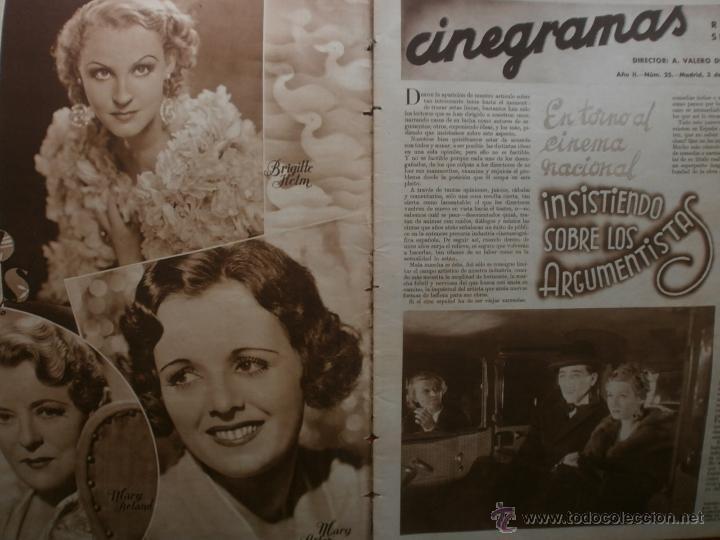 Cine: CINEGRAMAS Nº25.1935.GRETA GARBO.FLORIAN REY,IMPERIO ARGENTINA,ARTURITO GIRELLI,KITTY CARLISTE. - Foto 2 - 40969653