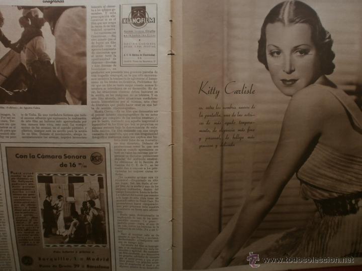 Cine: CINEGRAMAS Nº25.1935.GRETA GARBO.FLORIAN REY,IMPERIO ARGENTINA,ARTURITO GIRELLI,KITTY CARLISTE. - Foto 14 - 40969653