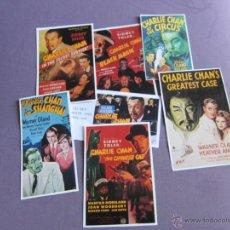 Cine: CHARLEY CHAN 7 RECORTES CARTELES DE PELICULAS . Lote 40986528
