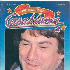 Cine: PAPELES DE CINE CASABLANCA - Nº 3 - MARZO 1981 - ROBERT DE NIRO, ANDRZEJ ZULAWSKI, MARAVILLAS. Lote 41015557