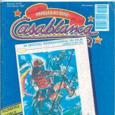 Cine: PAPELES DE CINE CASABLANCA - Nº 31-32 - 1983 - CANNES, PETER WEIR, EL SUR, VICTOR ERICE. Lote 41039610