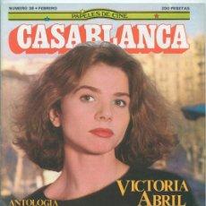 Cine: PAPELES DE CINE CASABLANCA - Nº 38 - 1984 - VICTORIA ABRIL, RUSS MEYER, HARVEY KEITEL, F. TRUFFAUT. Lote 41040359