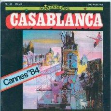 Cine: PAPELES DE CINE CASABLANCA - Nº 42 - 1984 - CANNES, ALMODOVAR, DICK BOGARDE, VISCONTI, MARIO CAMUS. Lote 48712651