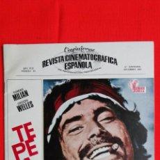 Cine: REVISTA CINEMATOGRAFICA ESPAÑOLA Nº 93, 1969, 24 PÁG. TEPEPA, TRISTANA, 3 ASESINOS.... Lote 41240810