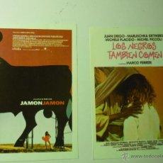 Cine: LOTE PROGRAMAS MODERNOS CINE ESPAÑOL JAMON JAMON - LOS NEGROS TAMBIEN COMEN. Lote 41254615