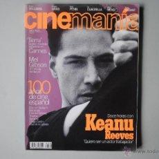 Cine: REVISTA CINEMANIA Nº 8. MAYO 1996. KEANU REEVES. MEL GIBSON. ROBIN WILLIAMS, SEAN PENN, JEAN RENO, F. Lote 41321990