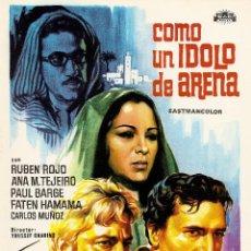 Cine: COMO UN ÍDOLO DE ARENA. Lote 41425519