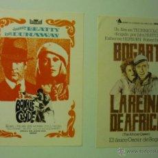Cine: LOTE DE PROGRAMAS MODERNOS BONNIE Y CLYDE.-LA REINA DE AFRICA. Lote 41461963